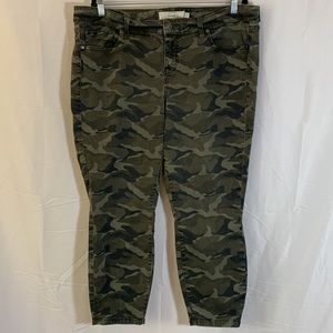 Torrid Camouflage Stretchy Ankle Jeans